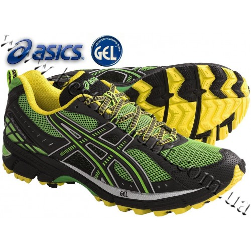 Asics® GEL-Kahana®-6 Trail Running Shoes Electric Green-Onyx-Sun