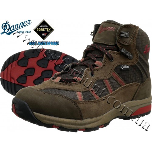 """Danner® 4.5"""" St.Helens Mid Hiking Boot Brown-Red"""