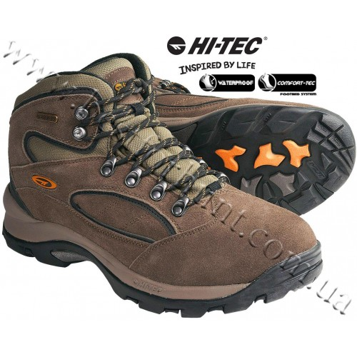 Hi-Tec® Coronado WP Waterproof Hiking Boots Smokey Brown