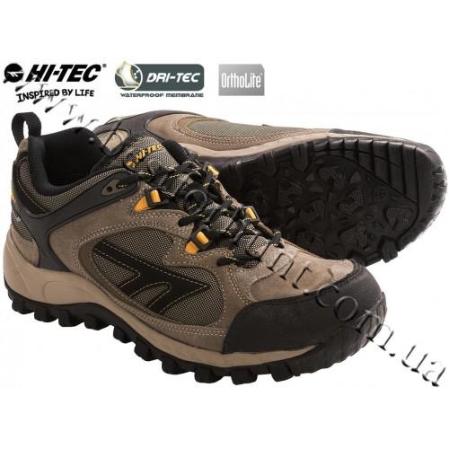 Hi-Tec® West Ridge WP Shoes Smokey Brown-Taupe-Gold