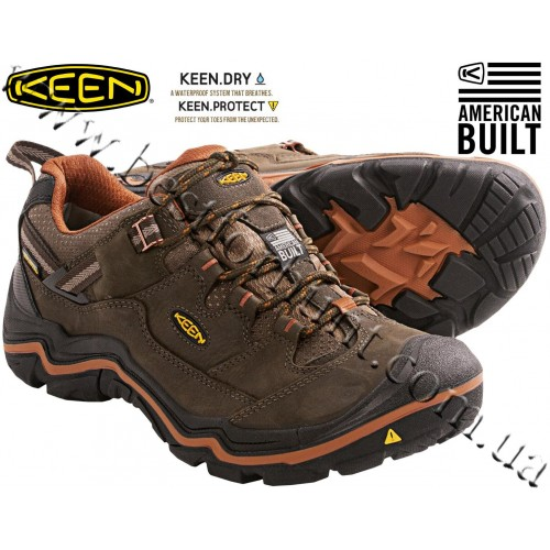 Keen® Durand™ Low Waterproof Trail Shoes Cascade Brown-Glazed Ginger
