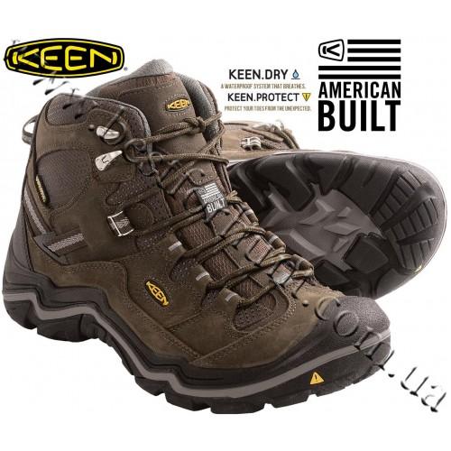 Keen® Durand™ Mid Waterproof Trail Shoes Cascade Brown-Gargoyle