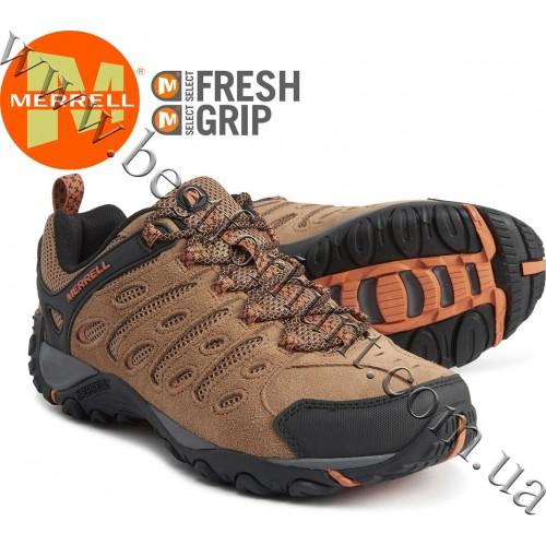 Merrell® Crosslander 2 Leather Hiking Shoes Brown Orange