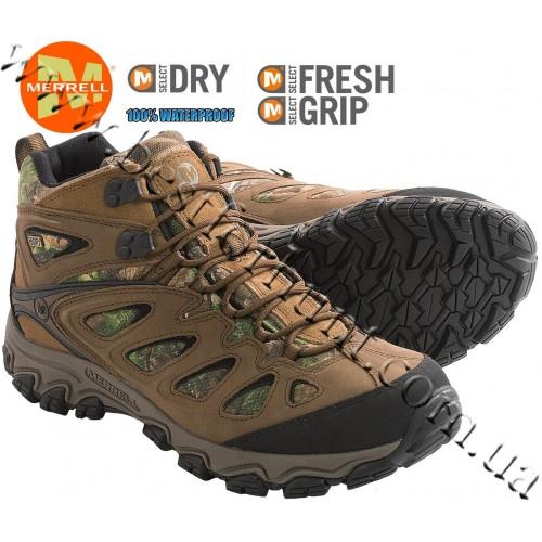 Merrell® Pulsate Camo Mid Waterproof Hiking Boots Realtree Xtra®