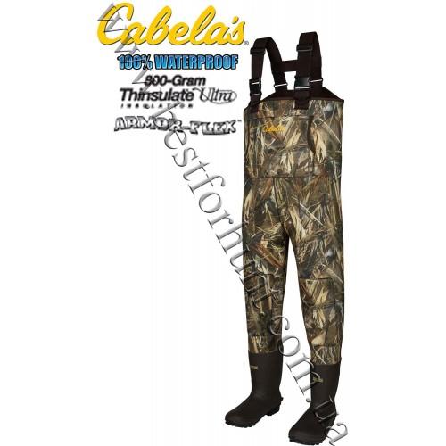 Cabela's 5mm Armor-Flex™ 800-Gram Hunting Chest Waders True Timber® DRT™
