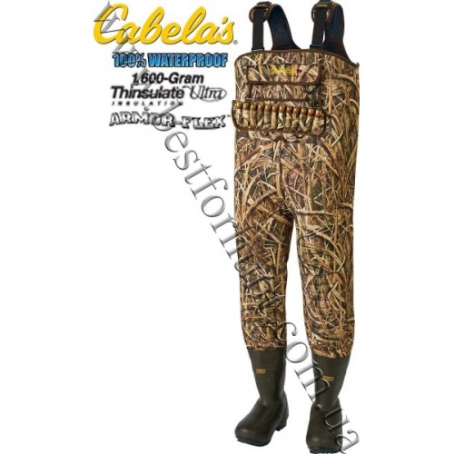 Cabela's 5mm SuperMag™ 1600-Gram Hunting Chest Waders Mossy Oak® Shadow Grass Blades™