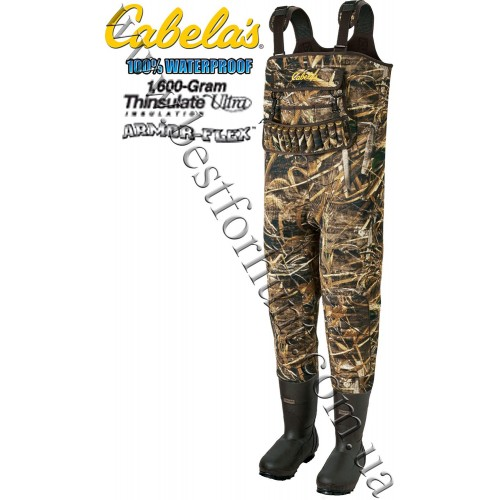 Cabela's 5mm SuperMag™ 1600-Gram Hunting Chest Waders Realtree MAX-5®