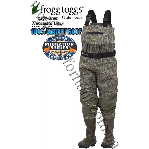 Frogg Toggs® Grand Refuge 2.0™ Breathable 1'200-gram Insulated Wader Mossy Oak® Bottomland®