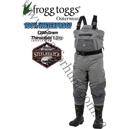 Frogg Toggs® SteelHeader™ Reinforced Nylon Breathable 1'200-gram Insulated Wader Slate-Gray
