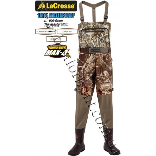 LaCrosse® Alpha Swampfox™ 600-gram Insulated Drop Top Chest Waders 700083 Advantage® MAX-4™ HD®
