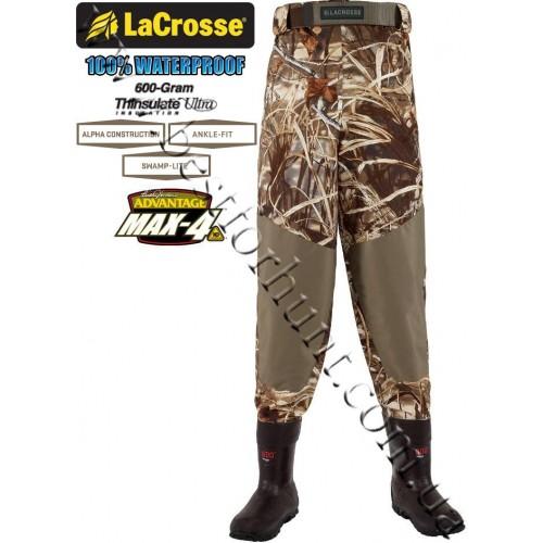 LaCrosse® Alpha Swampfox™ 600-gram Insulated Pant Waders 700085 Advantage® MAX-4™ HD®