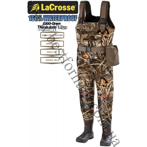 LaCrosse® Swamp Tuff™ Pro 1000-gram Insulated Waders 700122 Realtree MAX-4®