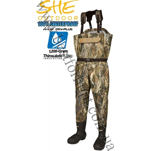 Cabela's SHE Outdoor® Breathable Hunting Waders for Ladies True Timber® DRT™