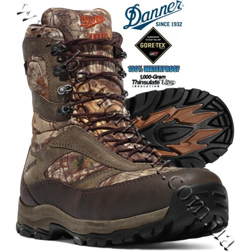 """Danner® Women's 8"""" High Ground 1,000-gram Insulated Gore-Tex® Waterproof Hunting Boots Realtree Xtra® 46230"""