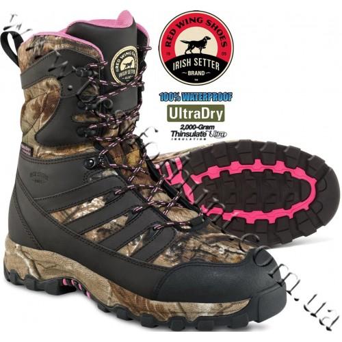 "Irish Setter® Women's 9"" Ladyhawk 2'000-gram Insulated Hunting Boots Realtree AP® 2889"