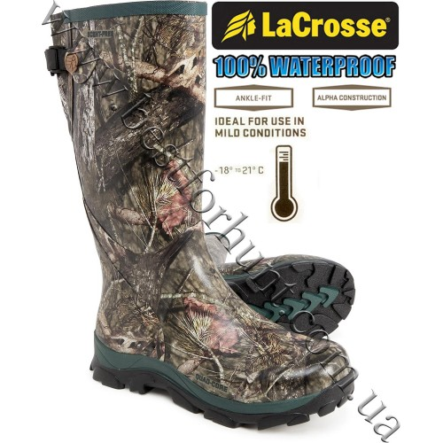 """LaCrosse® Women's Switchgrass™ 15"""" Waterproof Hunting Boot 301130 Mossy Oak® Break-Up® COUNTRY™"""