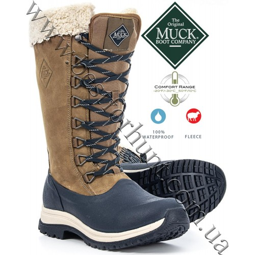 The Original Muck Boot Company® Women's Arctic Apres Lace Tall Outdoors Winter Boots Blue