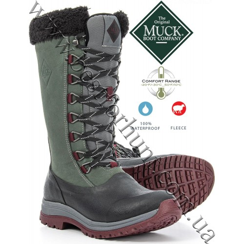 The Original Muck Boot Company® Women's Arctic Apres Lace Tall Outdoors Winter Boots Gray